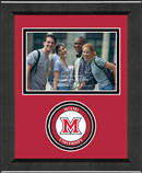 Miami University Photo Frame - Lasting Memories Circle Logo Photo Frame in Arena
