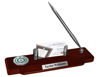 University of North Texas Desk Pen Set - Pewter Masterpiece Medallion Desk Pen Set
