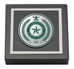 University of North Texas Paperweight - Pewter Masterpiece Medallion Paperweight