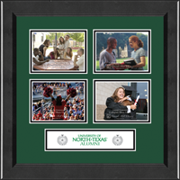 University of North Texas Photo Frame - Lasting Memories Quad Collage Photo Frame in Arena