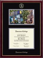 Emerson College Diploma Frame - Campus Scene Diploma Frame in Galleria