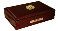 University of Medicine and Dentistry of New Jersey Desk Box - Gold Engraved Medallion Desk Box