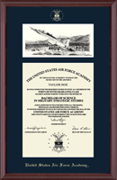 United States Air Force Academy Diploma Frame - Campus Scene Diploma Frame in Camby