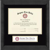 Sigma Tau Delta Banner Frame - Lasting Memories Certificate Edition Banner Frame in Arena