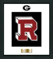 Rye High School in New York Varsity Letter Frame - Varsity Letter Frame in Omega