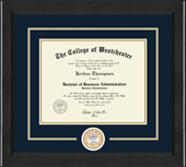 The College of Westchester Diploma Frame - Lasting Memories Circle Logo Diploma Frame in Arena