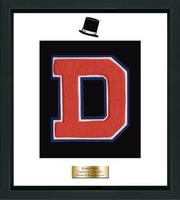 Danbury High School in Connecticut Varsity Letter Frame - Varsity Letter Frame in Omega