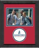 Samford University Photo Frame - Lasting Memories Circle Logo Photo Frame in Arena