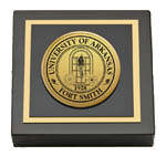 University of Arkansas - Fort Smith Paperweight - Gold Engraved Medallion Paperweight