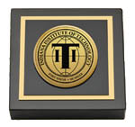 Indiana Institute of Technology Paperweight - Gold Engraved Medallion Paperweight