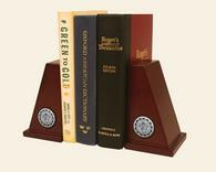 Robert Morris University in Pennsylvania Bookends - Silver Engraved Medallions Bookends