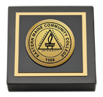 Eastern Maine Community College Paperweight - Gold Engraved Medallion Paperweight