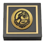 Pi Gamma Mu Paperweight - Gold Engraved Medallion Paperweight