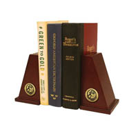 Pi Gamma Mu Bookend - Gold Engraved Medallion Bookends