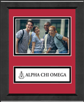 Alpha Chi Omega Photo Frame - 4'x6' - Lasting Memories Banner Seal Photo Frame in Arena