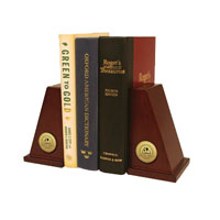 Baptist Bible College and Seminary Bookends - Gold Engraved Medallion Bookends