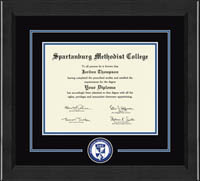 Spartanburg Methodist College Diploma Frame - Lasting Memories Circle Logo Diploma Frame in Arena