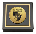 The Master's College Paperweight  - Gold Engraved Medallion Paperweight