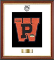 White Plains High School in New York Varsity Letter Frame - Varsity Letter Frame in Newport