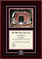 The Ohio State University Diploma Frame - Athletic O Spirit Medallion Stadium Photo Diploma Frame 