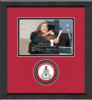 Alpha Chi Omega Photo Frame - 5'x7' - Lasting Memories Circle Logo Seal Photo Frame in Arena