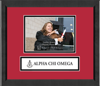 Alpha Chi Omega Photo Frame - 5'x7' - Lasting Memories Banner Seal Photo Frame in Arena