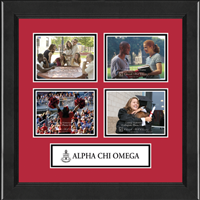 Alpha Chi Omega Photo Frame - Lasting Memories Quad Collage Photo Frame in Arena