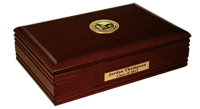Western Oregon University Desk Box  - Gold Engraved Medallion Desk Box