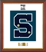 Staples High School in Connecticut Varsity Letter Frame - Varsity Letter Frame in Newport