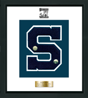 Staples High School in Connecticut Varsity Letter Frame - Varsity Letter Frame in Omega
