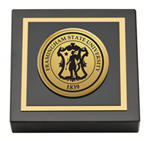 Framingham State University  Paperweight - Gold Engraved Medallion Paperweight