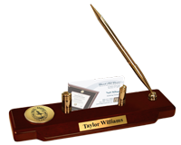 Paul Smith's College Desk Pen Set - Gold Engraved Medallion Desk Pen Set
