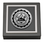 Indiana Wesleyan University  Paperweight - Silver Engraved Medallion Paperweight