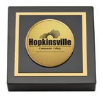 Hopkinsville Community College at Kentucky Paperweight  - Gold Engraved Medallion Paperweight