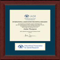 International Association of Dental Research Certificate Frame - Lasting Memories Banner Certificate Frame in Sierra