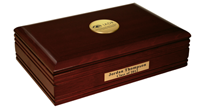 International Association of Dental Research Desk Box  - Gold Engraved Medallion Desk Box