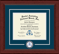 Dental Assisting National Board, Inc. Certificate Frame - Lasting Memories Circle Logo Certificate Frame in Sierra