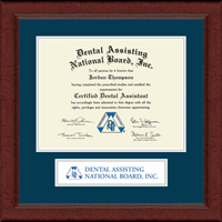 Dental Assisting National Board, Inc. Certificate Frame - Lasting Memories Banner Certificate Frame in Sierra
