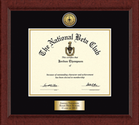 The National Beta Club Certificate Frame - Gold Engraved Medallion Certificate Frame in Sierra
