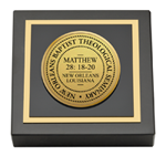 New Orleans Baptist Theological Seminary Paperweight - Gold Engraved Medallion Paperweight