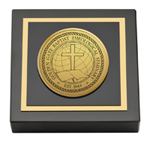 Golden Gate Baptist Theological Seminary Paperweight - Gold Engraved Medallion Paperweight
