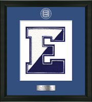 Edgemont High School in New York Varsity Letter Frame - Varsity Letter Frame in Omega