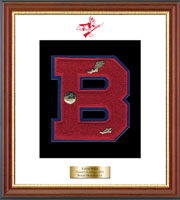 Berlin High School in Connecticut Varsity Letter Frame - Varsity Letter Frame in Newport