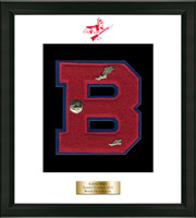 Berlin High School in Connecticut Varsity Letter Frame - Varsity Letter Frame in Omega
