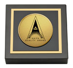National Association of Insurance and Financial Advisors Paperweight  - Gold Engraved Medallion Paperweight