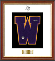 Westhill High School in Connecticut Diploma Frame - Varsity Letter Frame in Newport