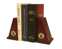 DeSales University Bookends - Gold Engraved Medallion Bookends