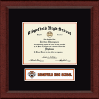 Ridgefield High School in Connecticut Diploma Frame - Lasting Memories Banner Diploma Frame in Sierra