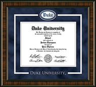 Duke University Diploma Frame - Spirit Pewter Medallion Diploma Frame in Brentwood