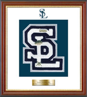 St. Lawrence Central High School Varsity Letter Frame - Varsity Letter Frame in Newport